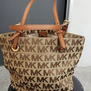 Michael Kors two toned brown  purse